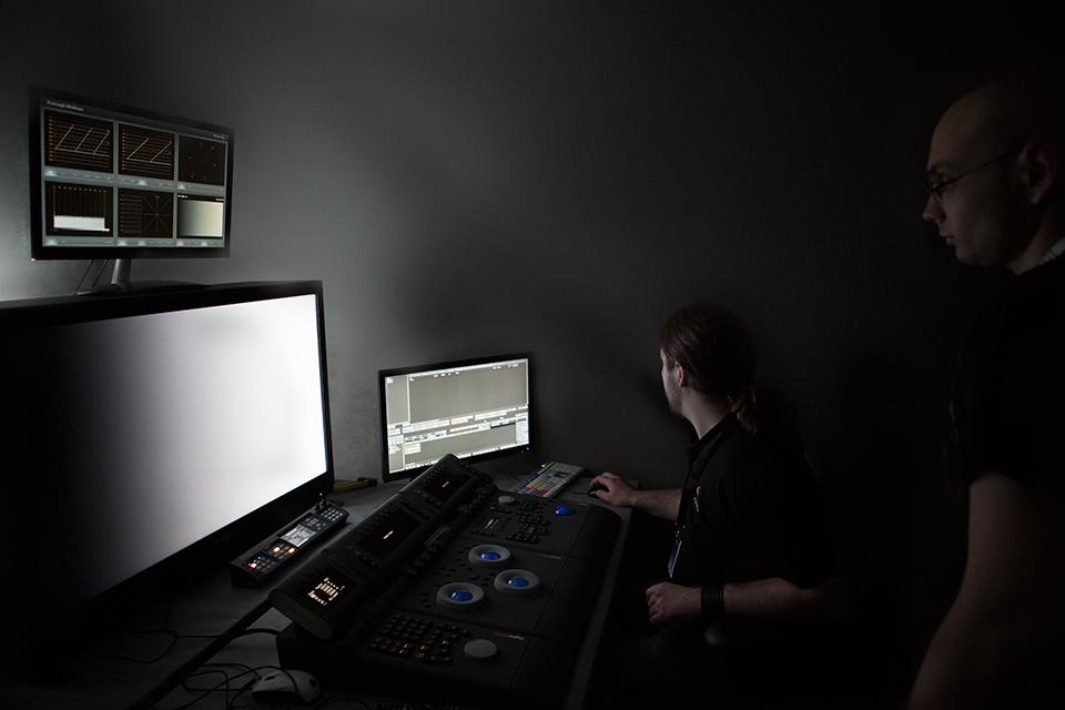 Grading room Fixafilm działający w trakcie Camerimage 2013