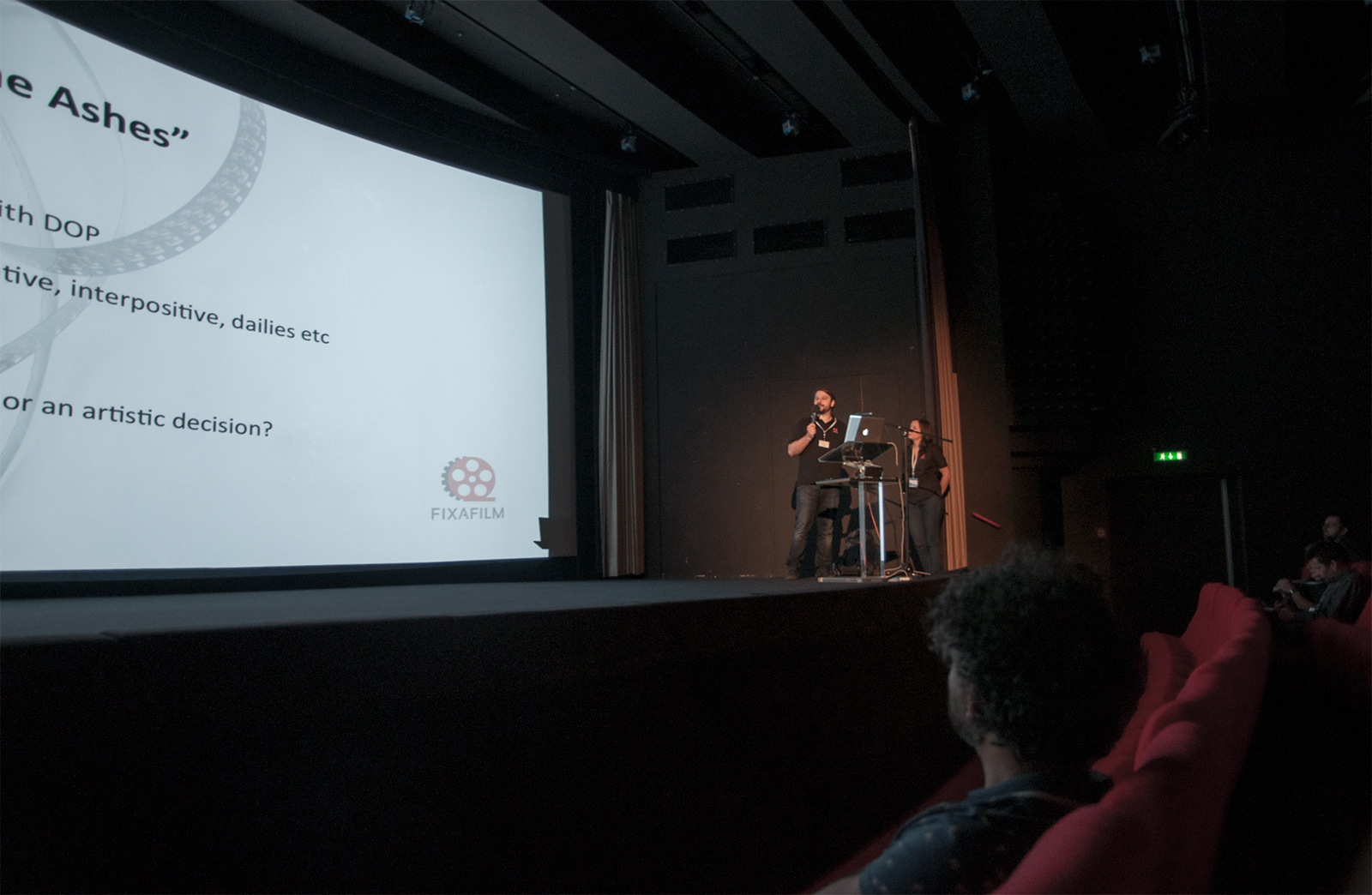 Experts of Fixafilm gave a lecture on Arri Workshop 2014